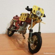 Juegos construcción - Meccano: AUTENTICA MOTO DE MECCANO DE LOS 70-80. Lote 112743871