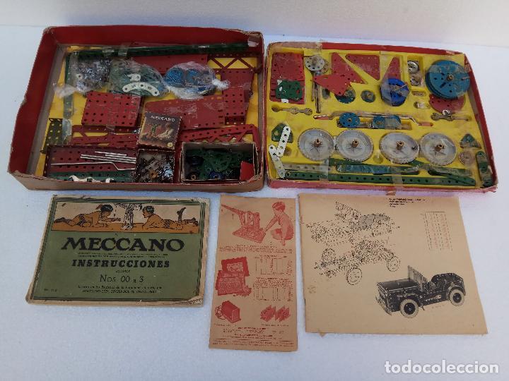 LOTE DOS ANTIGUAS CAJAS DE MECCANO Y CATALOGOS (Juguetes - Construcción - Meccano)