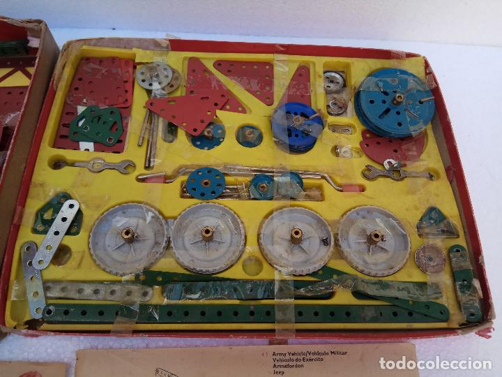 Juegos construcción - Meccano: LOTE DOS ANTIGUAS CAJAS DE MECCANO Y CATALOGOS - Foto 3 - 112879995