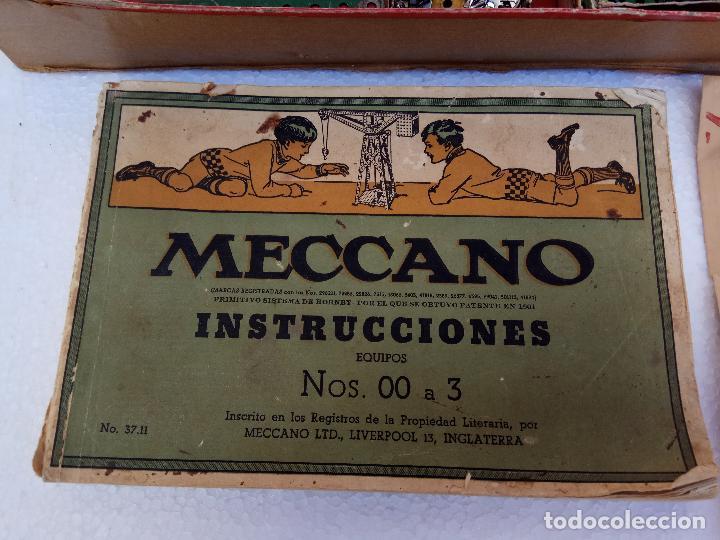 Juegos construcción - Meccano: LOTE DOS ANTIGUAS CAJAS DE MECCANO Y CATALOGOS - Foto 4 - 112879995