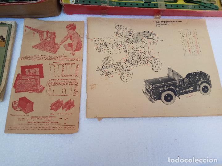 Juegos construcción - Meccano: LOTE DOS ANTIGUAS CAJAS DE MECCANO Y CATALOGOS - Foto 5 - 112879995