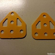 Juegos construcción - Meccano: PLACAS METALICAS MECCANO AMARILLAS. Lote 153599824