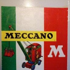 Juegos construcción - Meccano: TARIFA MECCANO 1968. Lote 114146726