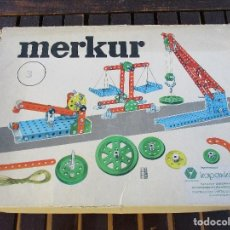 Juegos construcción - Meccano: MERKUR IGUAL A MECCANO FALTA ALGUNA PIEZA MEJOR VER FOTOS. Lote 115400915