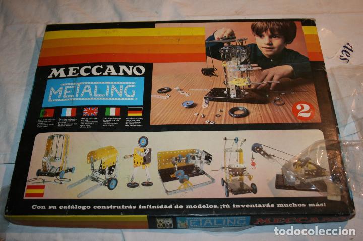 MECCANO METALING 2 DE NOVEDADES POCH,BARCELONA. FALTA ALGUNA PIEZA. AÑO 1971 (Juguetes - Construcción - Meccano)