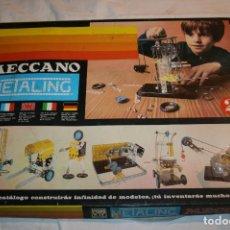 Juegos construcción - Meccano: MECCANO METALING 2 DE NOVEDADES POCH,BARCELONA. FALTA ALGUNA PIEZA. AÑO 1971. Lote 115526079