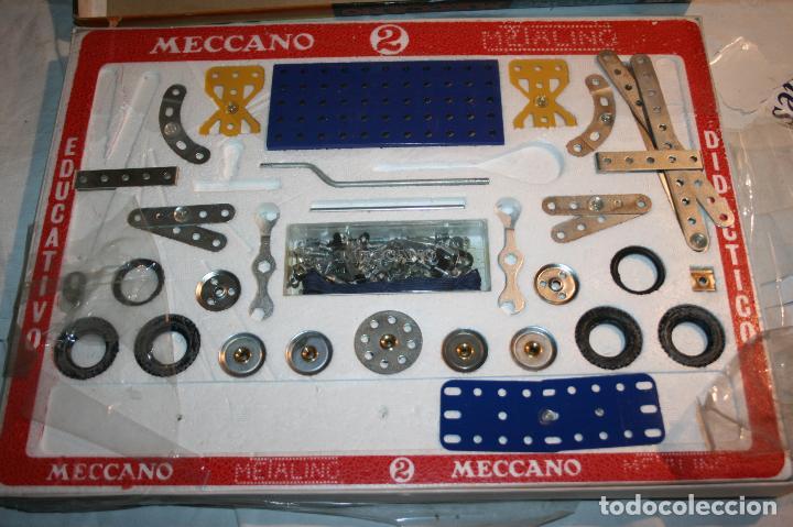 Juegos construcción - Meccano: Meccano metaling 2 de novedades poch,Barcelona. falta alguna pieza. año 1971 - Foto 2 - 115526079