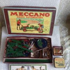 Juegos construcción - Meccano: MECCANO 0 Y 0A EN 1 CAJA CON INSTRUCCIONES AÑOS 50. Lote 116352203