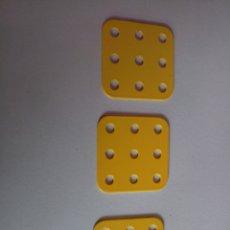 Juegos construcción - Meccano: TRES PIEZAS ORIGINALES MECCANO. Lote 206487187