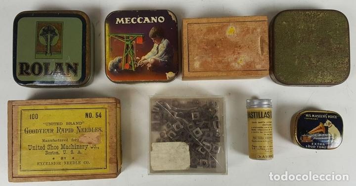 Juegos construcción - Meccano: MECCANO. CAJA CON INFINIDAD DE PIEZAS. CAJA EQUIPO SUPLEMENTARIO 3A. CIRCA 1960. - Foto 3 - 119062735