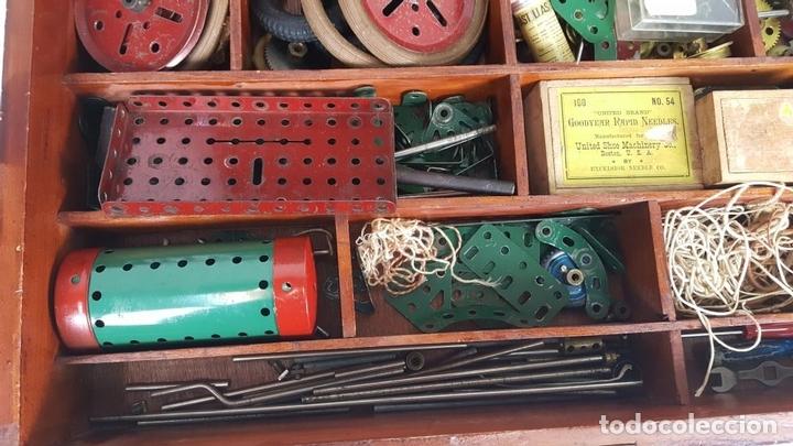 Juegos construcción - Meccano: MECCANO. CAJA CON INFINIDAD DE PIEZAS. CAJA EQUIPO SUPLEMENTARIO 3A. CIRCA 1960. - Foto 6 - 119062735