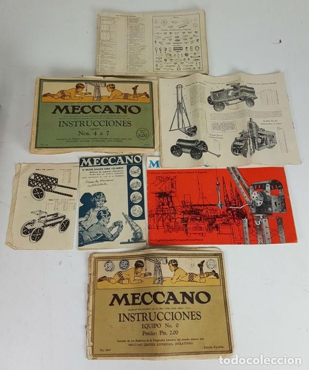 Juegos construcción - Meccano: MECCANO. CAJA CON INFINIDAD DE PIEZAS. CAJA EQUIPO SUPLEMENTARIO 3A. CIRCA 1960. - Foto 7 - 119062735