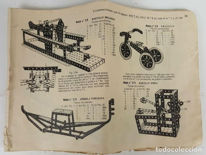 Juegos construcción - Meccano: MECCANO. CAJA CON INFINIDAD DE PIEZAS. CAJA EQUIPO SUPLEMENTARIO 3A. CIRCA 1960. - Foto 8 - 119062735