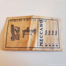 Juegos construcción - Meccano: RARA PIEZA ORIGINAL MECCANO NUM 172 MUELLE PENDULO RELOJ EN SU SOBRE JAMAS ABIERTO. Lote 119889531