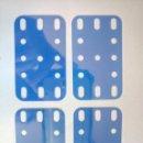 Juegos construcción - Meccano: 4 PIEZAS PLÁSTICO AZUL FLEXIBLE MECCANO. Lote 160512864