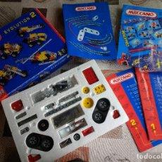 Juegos construcción - Meccano: MECCANO EVOLUTION 2 AÑO 1995 DESCATALOGADO HASTA 25 CONSTRUCCIONES. Lote 121576631