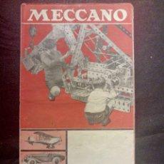 Juegos construcción - Meccano: CATALOGO MECCANO AÑOS 30 DINKY TOYS. Lote 122492496