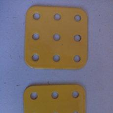 Juegos construcción - Meccano: PLACAS MECCANO AMARILLAS. Lote 122744011