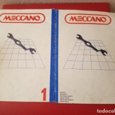 Jeux construction - Meccano: INSTRUCCIONES DE MONTAJE MECCANO 1-2 DE COCHE BUGGY Y MOTOR ELECTRICO JUEGO JUGUETE. Lote 122867715