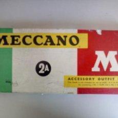 Juegos construcción - Meccano: CAJA 2A MECCANO AÑOS 60 COMPLETA. Lote 124023668