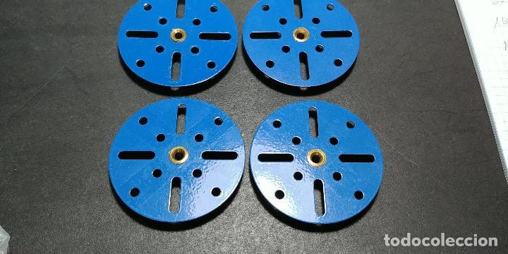 Juegos construcción - Meccano: Meccano, parte 109. placas circulares azules, reciente producción. - Foto 2 - 125167771