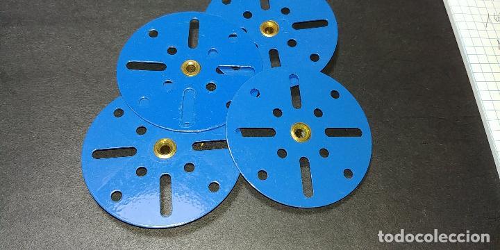 Juegos construcción - Meccano: Meccano, parte 109. placas circulares azules, reciente producción. - Foto 3 - 125167771