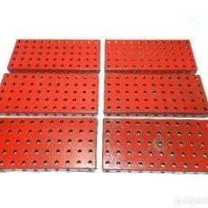 Juegos construcción - Meccano: PLACAS REBORDEADAS MECCANO ( 6 PIEZAS).. Lote 125261187
