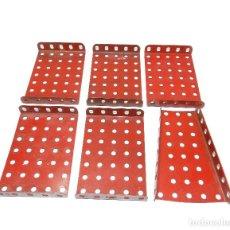 Juegos construcción - Meccano: PLACAS REBORDEADAS MECCANO ( 6 PIEZAS).. Lote 125261239