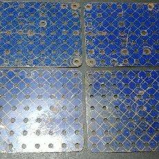Juegos construcción - Meccano: MECCANO, PARTE Nº 52A. 4 PLACAS AZULES DE 7 X 11 AGUJEROS USADAS.. Lote 125344327