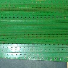 Juegos construcción - Meccano: MECCANO, PARTE Nº 1. LOTE 50 TIRAS DE 25 AGUJEROS, USADAS ORIGINALES UK.. Lote 125345407