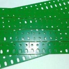 Juegos construcción - Meccano: MECCANO, PARTE Nº 103A. LOTE 9 VIGUETAS PLANAS 19 AGUJEROS REPINTADAS.. Lote 126069231