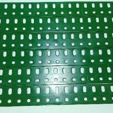Juegos construcción - Meccano: MECCANO, PARTE Nº 103A. LOTE 6 VIGUETAS PLANAS 19 AGUJEROS REPINTADAS. Lote 126069455