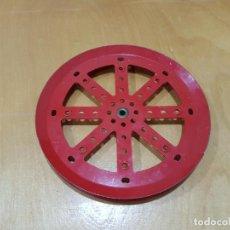 Juegos construcción - Meccano: MECCANO PART 19C. DARK RED, DOUBLE-TAPPED.. Lote 130870008