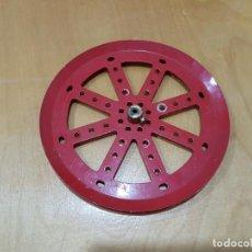 Juegos construcción - Meccano: MECCANO PART 19C. DARK RED, DOUBLE-TAPPED.. Lote 130870032