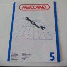 Juegos construcción - Meccano: MANUAL DE INSTRUCCIONES MECCANO Nº 5.. Lote 131017732