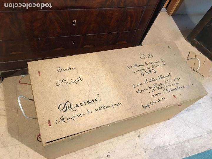 Juegos construcción - Meccano: Lote meccano premio de Liverpool 1953, maquina rallar papel + 7 diplomas + documentos... - Foto 2 - 132421206