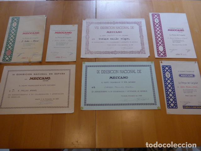 Juegos construcción - Meccano: Lote meccano premio de Liverpool 1953, maquina rallar papel + 7 diplomas + documentos... - Foto 32 - 132421206