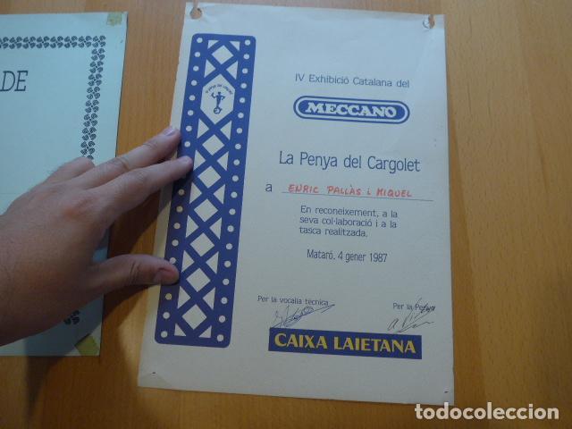Juegos construcción - Meccano: Lote meccano premio de Liverpool 1953, maquina rallar papel + 7 diplomas + documentos... - Foto 33 - 132421206