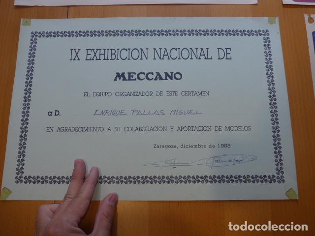 Juegos construcción - Meccano: Lote meccano premio de Liverpool 1953, maquina rallar papel + 7 diplomas + documentos... - Foto 34 - 132421206