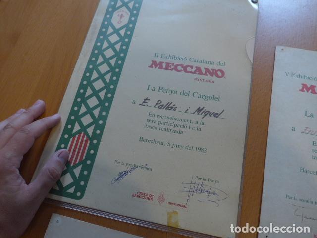 Juegos construcción - Meccano: Lote meccano premio de Liverpool 1953, maquina rallar papel + 7 diplomas + documentos... - Foto 35 - 132421206