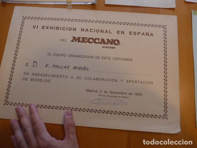 Juegos construcción - Meccano: Lote meccano premio de Liverpool 1953, maquina rallar papel + 7 diplomas + documentos... - Foto 36 - 132421206
