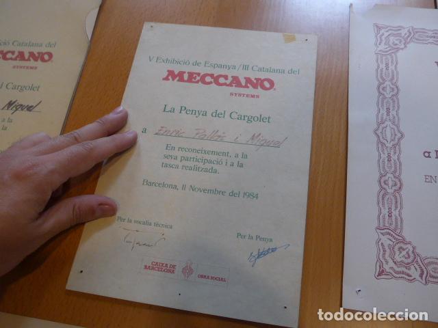 Juegos construcción - Meccano: Lote meccano premio de Liverpool 1953, maquina rallar papel + 7 diplomas + documentos... - Foto 38 - 132421206