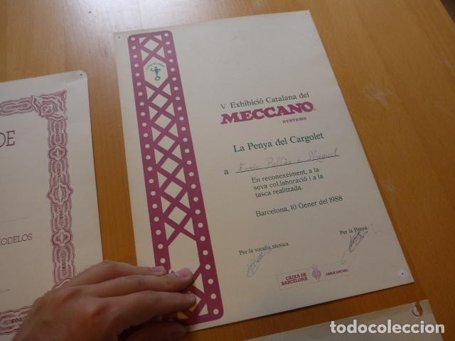 Juegos construcción - Meccano: Lote meccano premio de Liverpool 1953, maquina rallar papel + 7 diplomas + documentos... - Foto 40 - 132421206