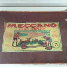 Juegos construcción - Meccano: MECCANO 3 CON EL MANUAL DE INSTRUCCIONES. Lote 132796898