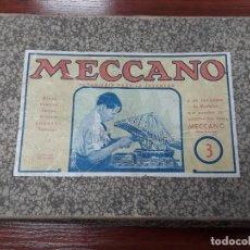 Juegos construcción - Meccano: MECCANO NÚMERO 3 AÑOS 40. Lote 132815450