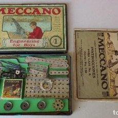 Juegos construcción - Meccano: ANTIGUO MECCANO 1 - FABRICADO INGLATERRA - AÑOS 20. Lote 133802838