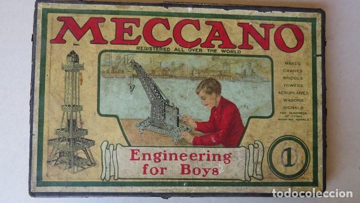 Juegos construcción - Meccano: ANTIGUO MECCANO 1 - FABRICADO INGLATERRA - AÑOS 20 - Foto 2 - 133802838