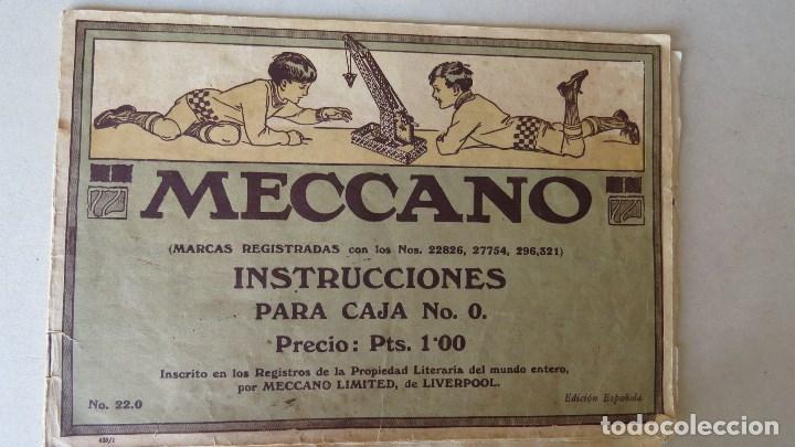 Juegos construcción - Meccano: ANTIGUO MECCANO 1 - FABRICADO INGLATERRA - AÑOS 20 - Foto 15 - 133802838