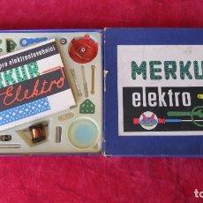 Juegos construcción - Meccano: MERKUR ELEKTRO 101 - ANTIGUO MECCANO DEL ESTE - CON PRECIOSO CATALOGO. Lote 133815646