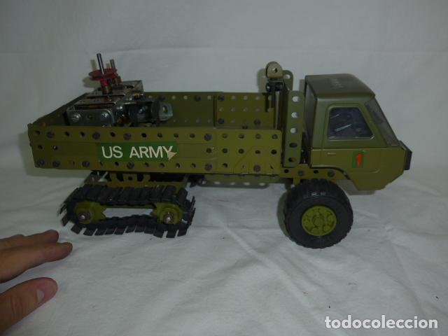 Juegos construcción - Meccano: Lote de meccano antiguo, años 50. camion militar + cara. Original - Foto 2 - 134006110